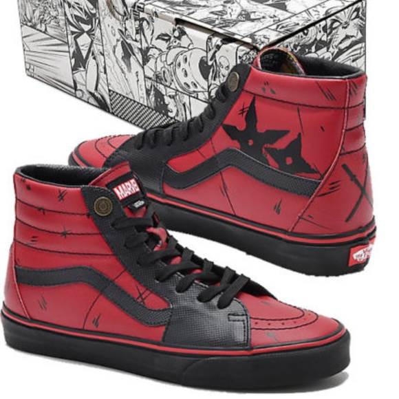 5c054b142b4 VANS SK8-HI Marvel Deadpool Limited Edition Unisex